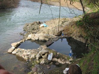 the soaking pools in spring 2008 (Hunts)